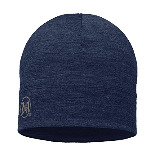 BUFF Unisex Lightweight Merino Wool Hat, Denim, OSFM (Running Wool Hat)