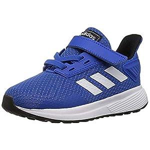 adidas Performance Unisex-Kids Duramo 9 Running Shoe, Blue/White/Black, 6 M US Big Kid