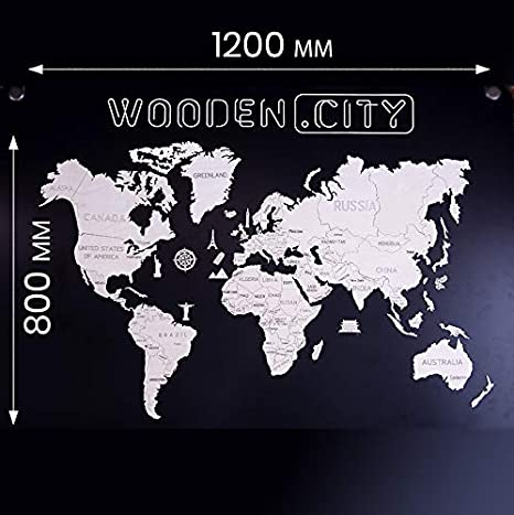 cognac Woodland/® Porte-cartes de cr/édit pour 18 cartes de cr/édit ou 38 cartes de visite en cuir de buffle naturel Beige - 6812904