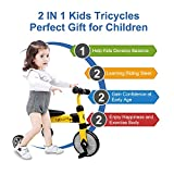XJD 2 in 1 Kids Tricycles for 2 Years Old and Up