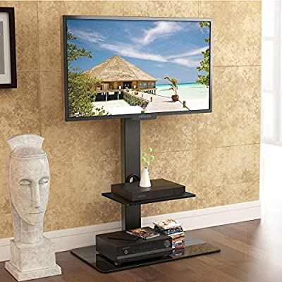 Fitueyes TT207001MB Swivel TV Stand and Mount for 32-65 Inch