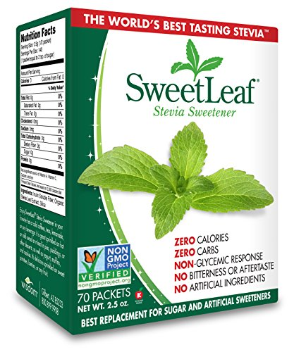 SweetLeaf Natural Stevia Sweetener, 70 Count -