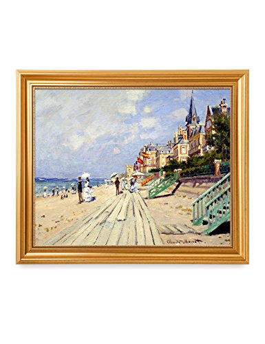 Decor Giclee Art (DecorArts - The Beach at Trouville, Claude Monet Art Reproduction. Giclee Print& Museum Quality Framed Art for Wall Decor.)