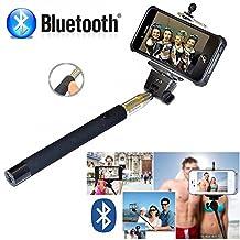 Selfie Stick iPhone 6 Plus - Bluetooth Selfie Stick iPhone 7 6 6s SE 5 5s 5c 4 4s - iPhone Selfie Stick with Remote (Black) Best Selfie Stick, Monopod Extendable Pole Galaxy S5 S6 S7 S8 - DaVoice