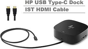 Newest HP USB-C Dock G5 - Docking Station Port Replicator (1Gbps Ethernet, 4 USB 3.0 Ports, 1 USB Type-C, 1 HDMI 2.0, 2 DisplayPort, IST HDMI Cable) Compatible USB-C Laptops Universal