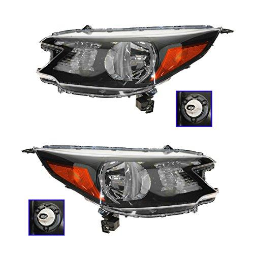 Headlight Headlamp Left LH & Right RH Pair Set for 12-13 Honda CR-V
