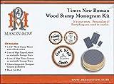 Mason Row XL-48870 Times New Roman Wood Mount Monogram Stamp Kit