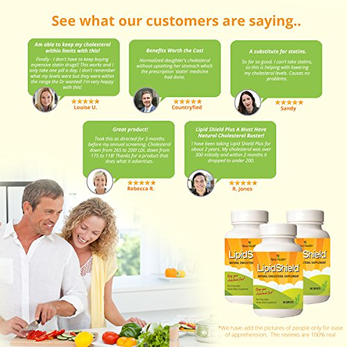 New Health Lipidshield Plus - 60 Caplets - Healthy & Natural Cholesterol Alternative - Herbal Dietary Supplement by New Health (Image #3)