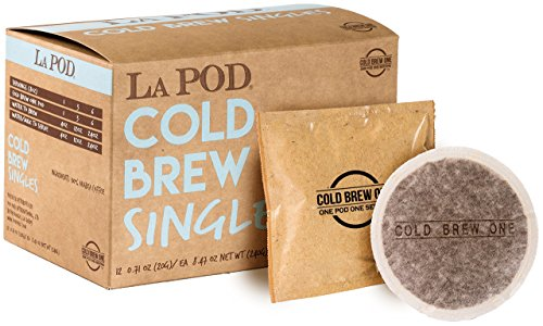 La Pod Cold Brew One Coffee Pods | Separate Cup or Batch Brewing Pods | (12 Count - Simple, Scalable Home Brewing for Cold Brew Coffee)
