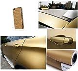 JDMBESTBOY 3D Gold Carbon Fiber Texture Vinyl