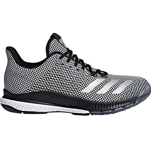 adidas Women's Crazyflight Bounce 2 Volleyball Shoe, Black/Silver Metallic/White, 10 M US by adidas