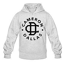 Caili Men's Cameron Dallas Logo Hoodies Sweatshirts S Ash