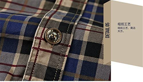 K3K Mens Casual Cotton Outdoor Tops Button Down Long Sleeve Plaid Flannel Shirt