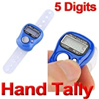 Density Collection Digital 5 Digit Hand Finger Electronic Ring Tally Japa Counter (Assorted Colours, Multicolour)