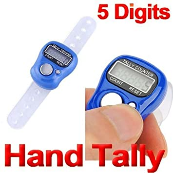 Mini Digital LCD Screen Electronic Finger Hand Ring Row Tally Counter Adjustable