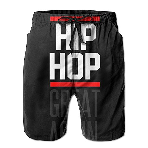 Beachs Hip-Hop Rap Music Stylish Quick Drying Men Board Shorts Outdoor Swim Short M-XXL by Beachs