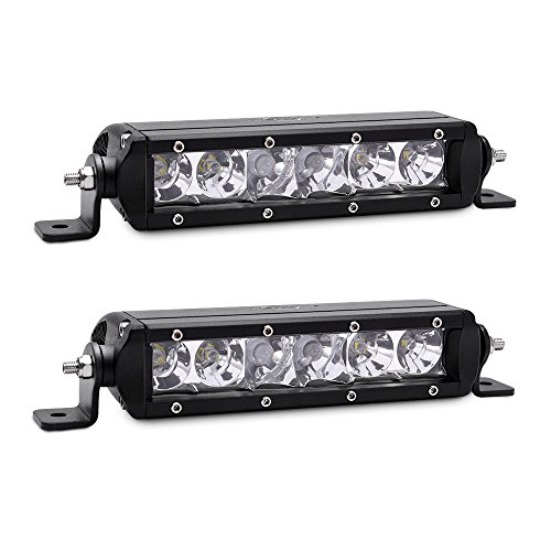 MICTUNING MIC-5DP30 2X SR-Mini Series 8'' 30W Single Row CREE LED Light Bar COMBO Spot Flood 2700lm 400m (400 Series Combo)
