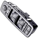 """APDTY 133907 Master Power Window Switch Fits 2009-2012 Dodge RAM 1500 2500 3500 Crew Cab Pickup With""""A"""" On Both Front Window Buttons (Without Power-Fold Mirrors; Replaces 4602863AD, 4602863AB)"""
