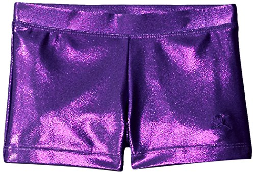 Danskin Big Girls' Gymnastics Basics Short, Purple, Large - Foil Gymnastic Leotard
