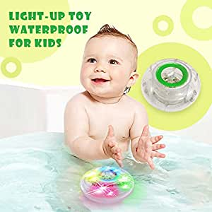 MorganProducts Light-up Toy Waterproof for Kids Durable Floating Safe for Baby with Instruction Boys and Girls Toddler Toys Children Prime Water Gift Toys Educational Boat Pool Fun