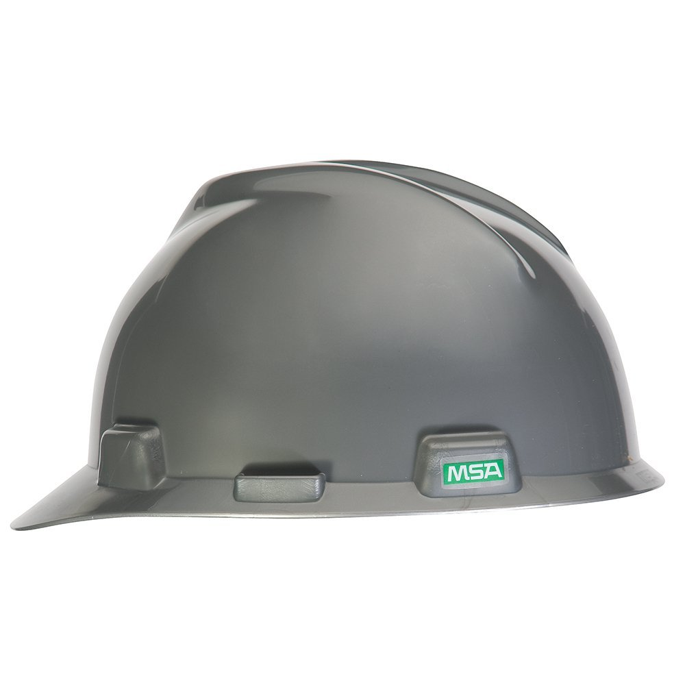 MSA 495855 V-Gard Polyethylene Protective Cap with Fas-Trac Suspension, Standard Size, Silver