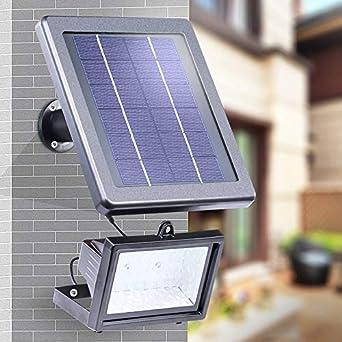 Solarlicht Flutlichtstrahler Außenbeleuchtung mit Bewegungsmelder für Garten,