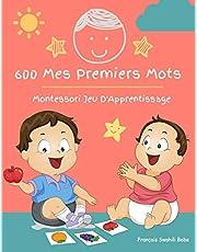 600 Mes Premiers Mots Montessori Jeu D'Apprentissage Français Swahili Bebe: Collector cartes pour apprendre l'alphabet, animaux, nombres, formes couleurs imagier cartes flash pour enfant. Jouets éducatifs pour Les bébés et Les Tout-Petits