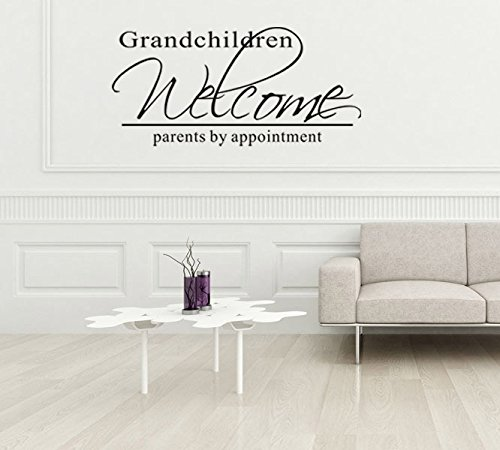 Homefulcomely PVC Wall Stickers English GRANDCHILDREN minimalist living room home decor art waterproofWallpaper27.9cm x 61cm