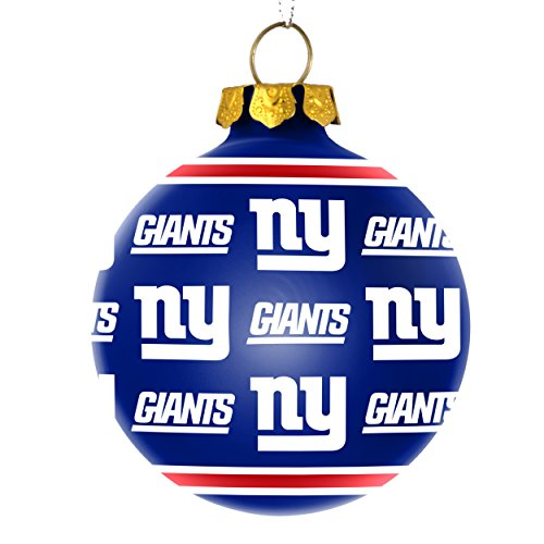 NFL New York Giants Glass Ball Ornament