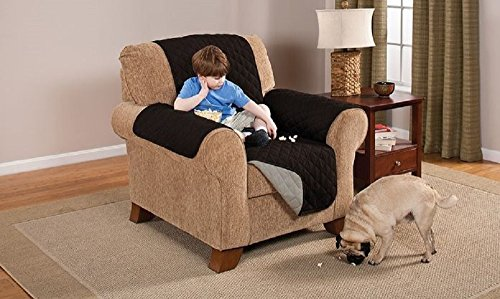 Elegante Luxurious Reversible RECLINER Furniture Dog Protector Black / Grey & Chair Protector Covers for Recliners: Amazon.com islam-shia.org