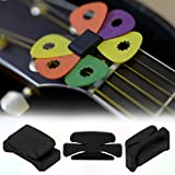 Professional Guitar HeadStock Pick Holder Rubber Musical instruments Durable Plastic Picks Collection Holder Accessories