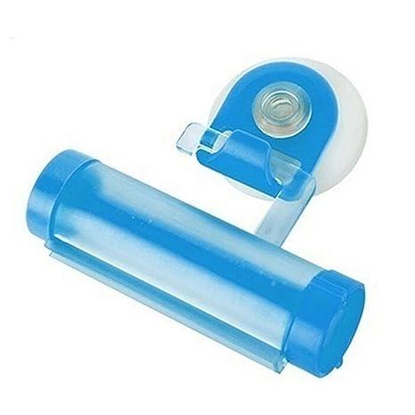 Plástico Rodillo Exprimidor De Tubo De Pasta De Dientes Dispensador Ventosa Soporte Percha Gadget para cosméticos