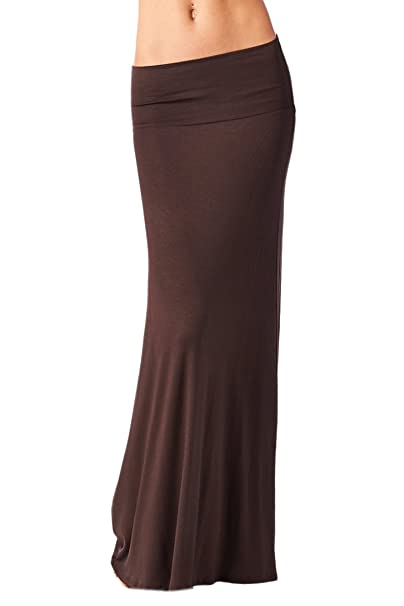 db3fd7d8c5c5f Image Unavailable. Image not available for. Color  Azules Women S Rayon  Span Maxi Skirt - Dark Brown 2X