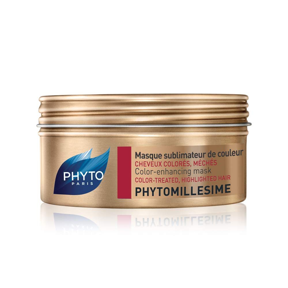 PHYTOMILLESIME Botanical Color-Enhancing Mask|Color-Treated & Highlighted Hair|Prolongs Hair Color, Nourishes & Repair, Hydrates, Provides Shine, Detangles|Argan Butter|Sulfate Free, Paraben Free