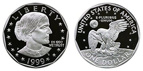 - 1999 P Susan B Anthony Proof DCAM Dollar ($1) Deep Cameo PR 65+