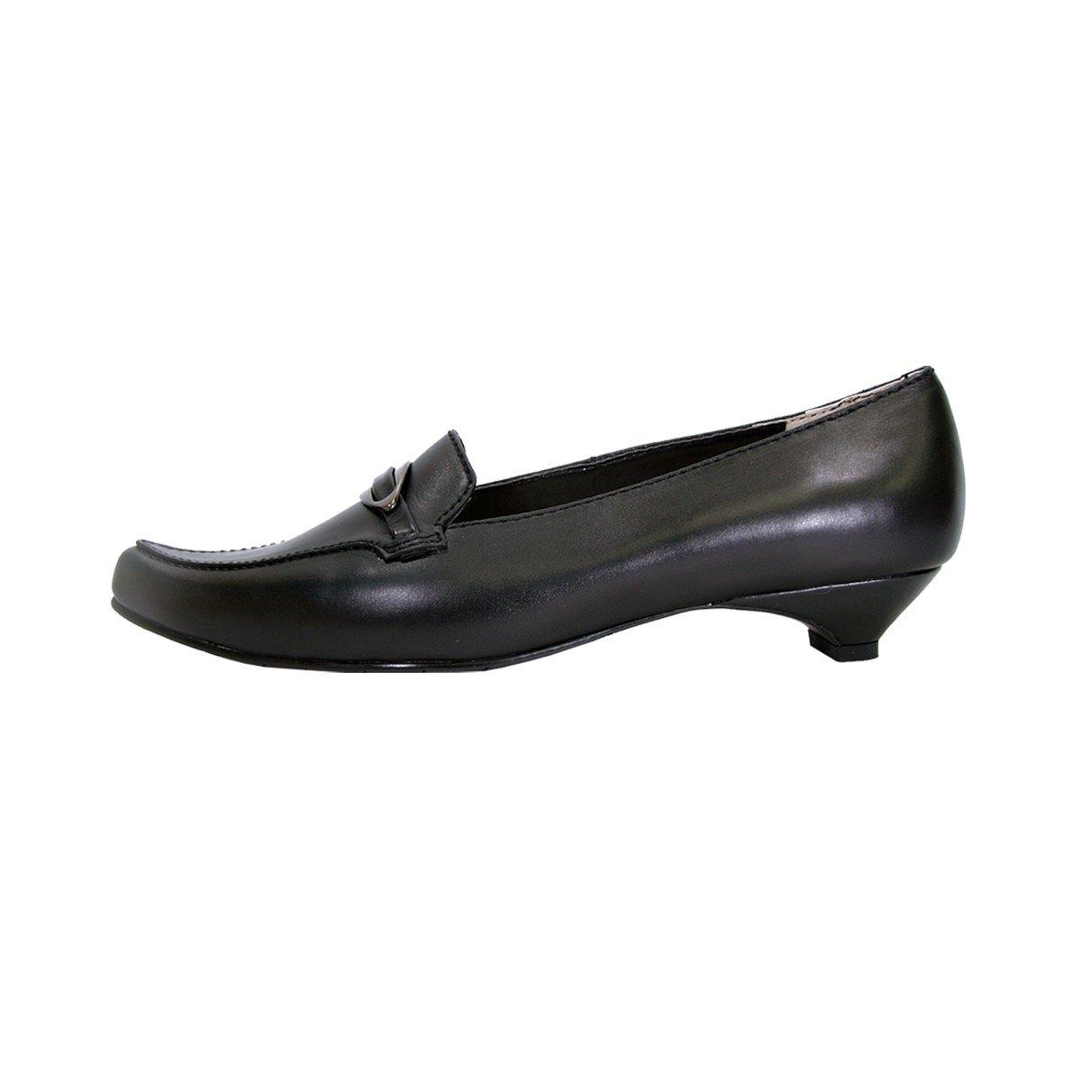 Peerage Louise Women Wide Width Smart Casual Leather Flat (Size/Measurement) Pumps with Kitten Heels (Size/Measurement) Flat B079TC4K2M 6.5 E|Black 4f6b2e