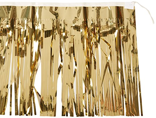 2-Ply FR Metallic Fringe Drape (gold) Party Accessory  (1 count) ()
