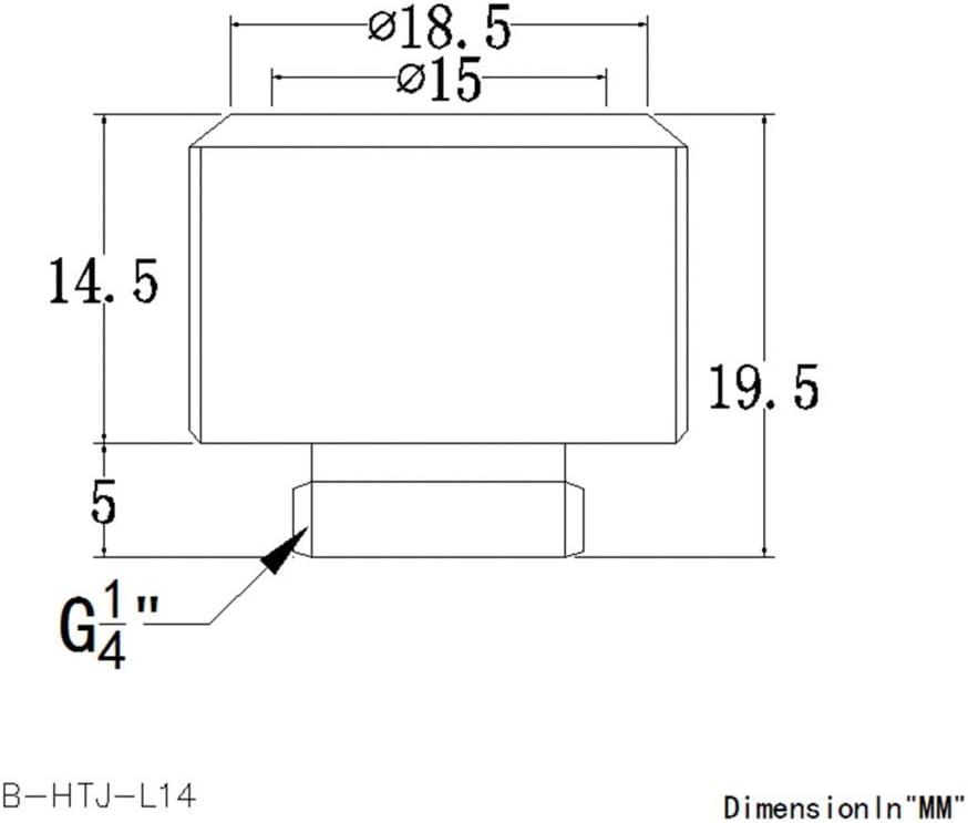 4 Pack Bykski Rigid 14mm OD Fitting Grey