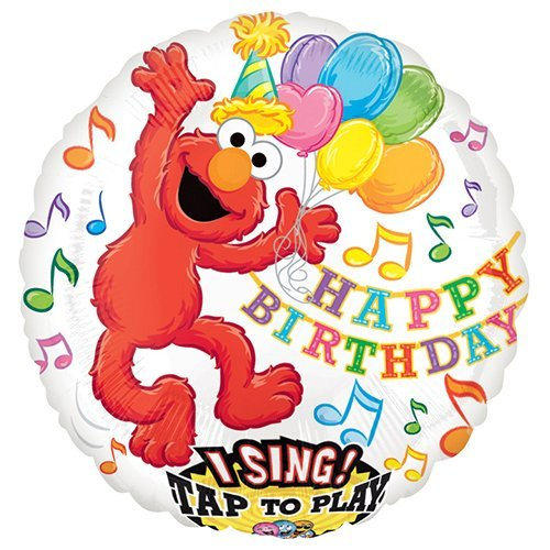 Anagram 21716 Elmo Birthday Sing-A-Tune Foil Balloon, 28