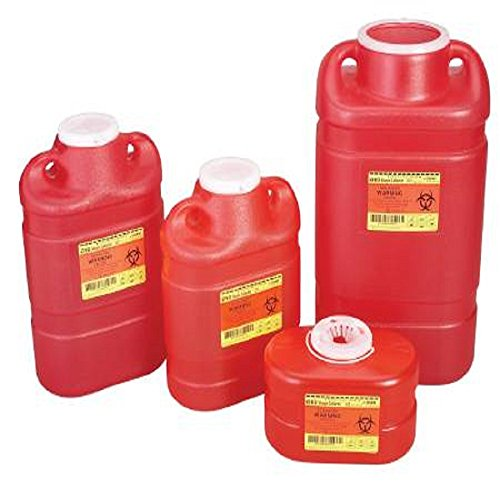 9876369 PT# 305490 Collector Sharps 8.2qt Lg Temporary/ Final Closure Rd Multiuse EA Made by Becton-Dickinson