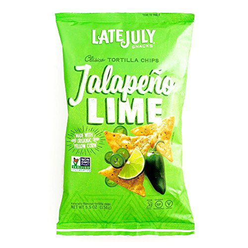 - Late July Jalapeno Lime Tortilla Chips 5.5 oz each (6 Items Per Order)