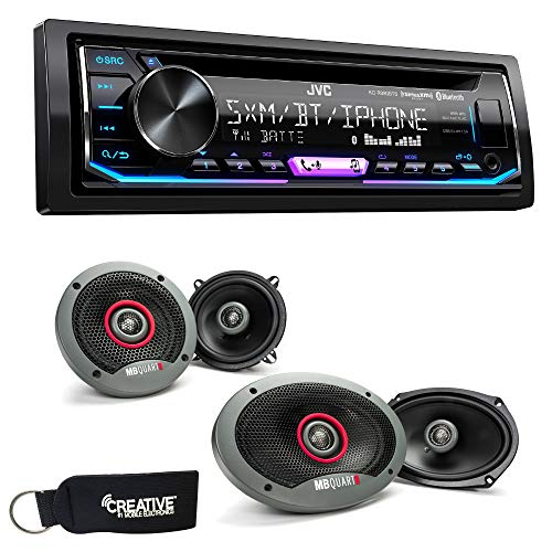 "JVC KD-R990BTS Bluetooth Cd Receiver with A Pair Mb Quart Formula Series FKB113 5.25"" and A Pair FKB169 6x9 Speakers"