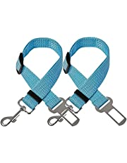 FORUMALL 2Pcs Dog Car Seat Belt Safety Adjustable Dog Car Seatbelts Lead Restraint Harness Seatbelt Accessories for Dogs Cats Pets