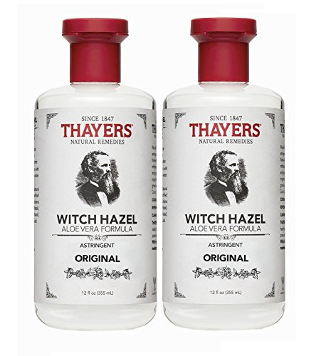 Thayers Witch Hazel with Aloe Vera, Original Astringent 12 oz (Pack of 2) ()