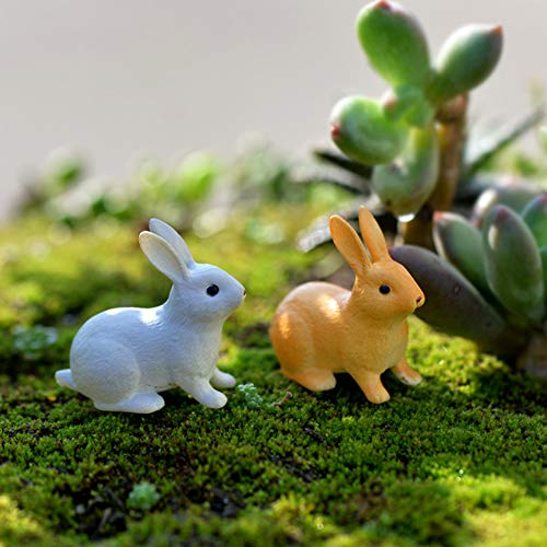 yanQxIzbiu Mini Micro Landscape, 1 Pcs Lovely Easter Rabbit Miniature Landscape DIY Garden Decor Crafts Dollhouse Ornament for Patio Yard Office and House 1# ()