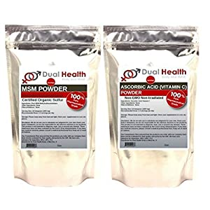 (5 lb) BAG OF EACH Ascorbic Acid Vitamin C & MSM Methylsulfonylmethane Powder Combo