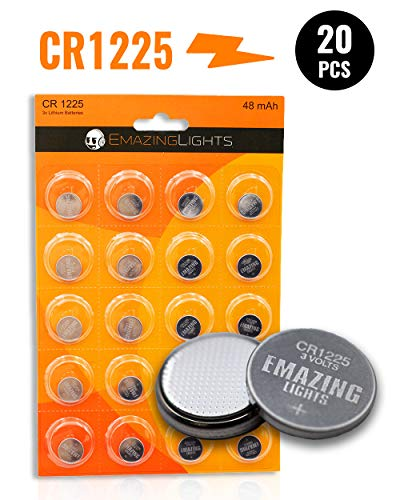 EmazingLights CR1225 Batteries (20 Pack) 3 Volt Button Cell Lithium Battery