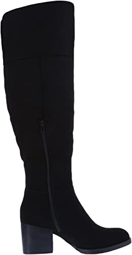 Brash Women's Black Suede Women's Tinley Over The Knee Boot