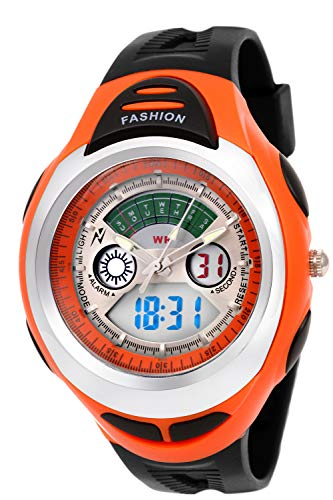 Young Analogue Digital Silver DIAL Boy's Watch - DMF 033 Orange