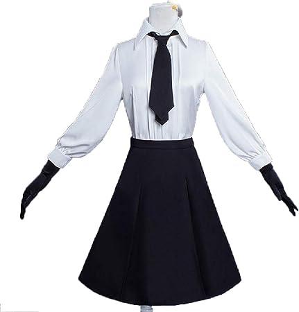 YKJ Traje de Cosplay de Anime Camisa Blanca Vestido Largo Negro Fiesta de Carnaval de Halloween Juego Completo,Full Set-M: Amazon.es: Hogar